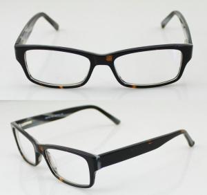 Quality Unisex Flexible Hand Made Acetate Optical Frames , Fashion Eye Glasses for sale
