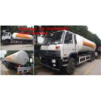 Quality CLW Brand 10tons LPG mobile tanker truck for sale, high quality and best price 25m3 dongfeng brand LPG gas bobtail truck for sale