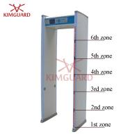 6 Zone Enhanced  Airport Metal Detector Security Gate For Military Sites Security Check