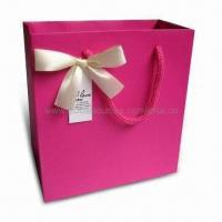 Quality Retail Paper Bag with Ribbon Handle, Suitable for Garments, Measures 40 x 30 x 10cm for sale