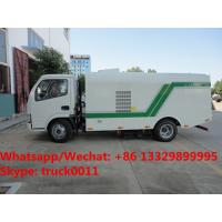 Buy cheap Factory sale best price Dongfeng 4*2 RHD Vacuum sweeping truck, HOT SALE! China-made dry type road cleaning truck from wholesalers