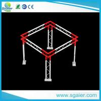 Quality High Performance Aluminum Truss Display Customized Length Black / Gold Color for sale
