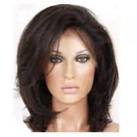 Quality Fashion Blonde Wigs Human Hair , OEM / ODM Short Front Lace Wigs With Thick Bottom for sale