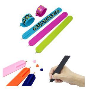 Quality Ballpoint Pen Silicone Slap Stylus Bracelet for sale