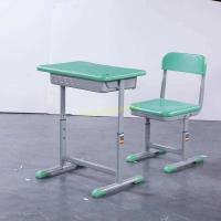 Quality XJ-K007 Chinese Supplier Height Adjustable Mint Green 600*400mm HDPE Student Desk for sale