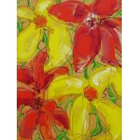 Quality crystal flower painting art flower house wall decoration for sale