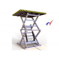 Quality Double Forks Fixed Scissor Lift 900 × 900mm Platform Hydraulic Cargo Lift for sale