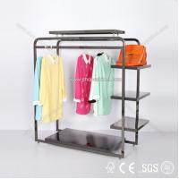 Quality Garment racks Double sided Waterfall display rack for sale