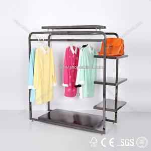 Quality Garment racks Double sided Waterfall display rack for sale