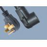 Buy cheap 50A Heavy Duty Range NEMA 14-50P to NEMA 14-50R 4 Prong Electric Angle Plug dry from wholesalers