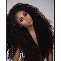 Quality Kinky Curly Virgin Cambodian Hair Unprocessed Human Hair Weave for sale