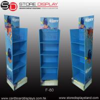 Quality Promotional corrugated floor display stand with 4 shelves for sale