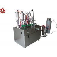 Glass Cleaning Spray Aerosol Filling Equipment , Spray Can Filling Machine