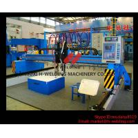 Quality Single Side CNC Flame Cutting Machine With Cutting Torches , Siemens / Schneider Electrical Parts for sale