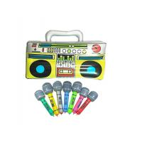 "Quality Colorful 16"" Inflatable Kids Toys Microphones Speaker & Musical Instruments for sale"