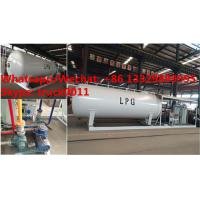 Quality customized mobile skid propane gas refilling station with 4 digital weighting scales for sale, skid lpg gas plant for sale