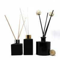 Quality Black Brussel Glass Perfume Bottles With Printing Home Decoration for sale
