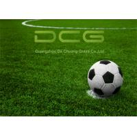 Quality Synthetic Soccer Field Artificial Turf Grass With Drainage Holes Dry Fast for sale