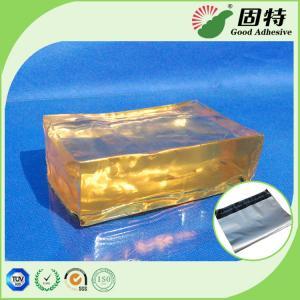 China Yellow and semi-transparent Hot Melt Pressure Sensitive Glue Adhesive For Mail Bag Sealing Good Like Henkel on sale