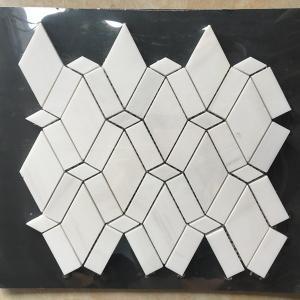 Quality White Diamond Dolomite Nature Stone Mosaic Tile For Kitchen Backsplash for sale