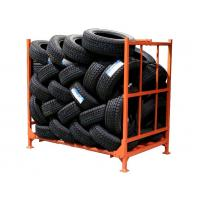 Quality Anti - Skid Surface Foldable Tire Rack Multi Lensed Bending Structure for sale