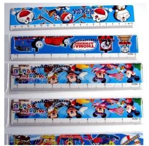Quality OK3D design 3d custom design animation lenticular ruler 20cm 30cm pvc plastic 3d lenticular printing ruler for students for sale