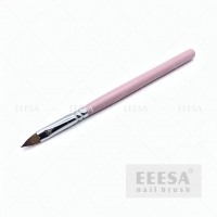 Quality Big Size 3D Nail Brush Flower Sculpting Nail Art Brush with Pink Wooden Handle for sale
