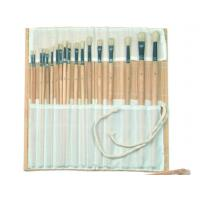 Buy cheap Natural Color Bamboo Brush Holder Useful Tools , Artist Brush Roll Case 41.5 * from wholesalers