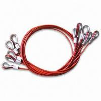 Quality PVC Coated Steel Wire Rope Sling, Available in Customized Sizes, OEM Orders are Welcome for sale