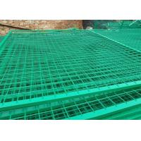 Buy Green Powder Coated Steel Wire Fencing Security For Highway , 48mmx1.0mm Size at wholesale prices
