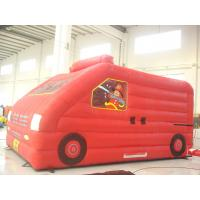 Quality Red Car Inflatable Bouncer Toy Customized Size Quick Deflation UV Resistant for sale