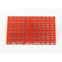 Buy Red LPI Solder Mask Double Sided PCB 0.8mm Lead Free HASL White Silkscreen at wholesale prices