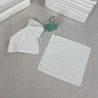 Quality Square Azo Free Plain White Hand Towels for sale