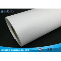 Quality Giclee Eco Solvent Media , 260gsm Silky Polyester Glossy Inkjet Canvas Rolls for sale