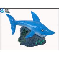 Buy Blue Little Shark Personalised Large Fish Tank Ornaments Decorations with Polyresin at wholesale prices