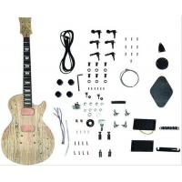 Quality DIY Les Paul Style Solid Electric Guitar Kits With Spalted Maple Veneered AG-LP3 for sale