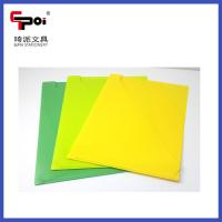 Buy PP Stationery Supplier A4 Loose Paper Customized Translucent L shaped File at wholesale prices