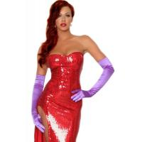 China Wholesale Hollywood Costumes Toon Wife Costume made by Sequin cloth in Red with XXS to XXXL on sale