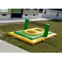 Buy cheap Green n Yellow Adults Inflatable Bossaball Court With Trampoline from wholesalers