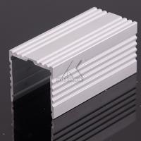 China Little Scratch Aluminum LED Strip Profiles Matt Finish Milky With Caps Profile on sale