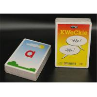 China Plastic or Paper Educational Flash Cards , Custom Size Baby Flash Cards on sale