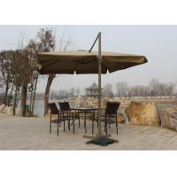 Quality Telescopic Large Rectangular Garden Parasol Screen Printed For Garden Oasis for sale