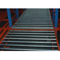 Quality blue and orange steel beam racking gravity flow roller rack for sale