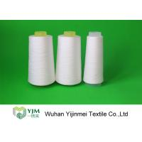 Quality High Tenacity Bright Ring Spun Polyester Sewing Thread Yarn On Cones 20s/3 Raw White Color for sale