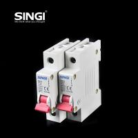 Buy Breaking capacity reach to 10000 voltage 230v/400V 20a 50HZ single pole small circuit breaker overload protection at wholesale prices
