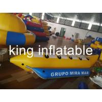 Quality Sea Inflatable Fly Fishing Pontoon Boats For Children And Adult 0.9mm PVC Tarpaulin / Banana Boat Price for sale