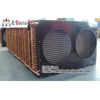 Quality Finned Type Copper Tube Air Cooled Refrigeration Condenser Coil for sale