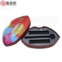 Buy Special mouth shape lipstick metal tin box lip gloss tin can packaging box at wholesale prices