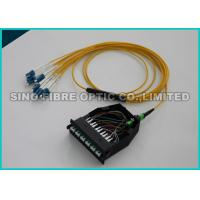 Quality Aqua Fiber Optic Cassette Shuttered LC to MPO Multimode 50um OM3 Classic Module for sale