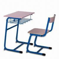 Quality School Desk and Chair with Fireproof Desk Top, Customized Model and Sizes are Accepted for sale